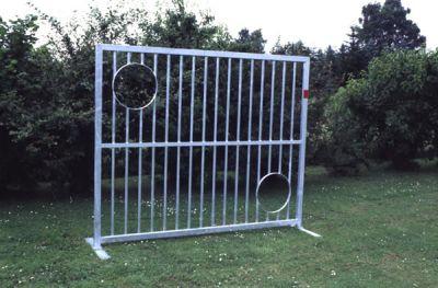 Jobasport Torwand aus Stahl zum Einbetonieren 2,50 x 2 m