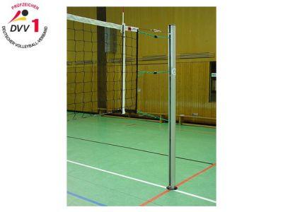 Jobasport Volleyballpfosten nach DVV I/TÜV Profil rund  83 mm - Paar -