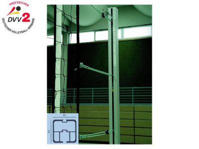 Jobasport Volleyballpfosten quadratisch 80 x 80 mm nach DVV II/TÜV - Paar