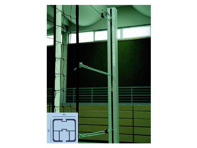 Jobasport Volleyballpfosten quadratisch 80 x 80 mm - Paar -