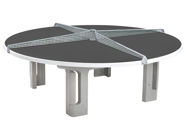 Maillith Tischtennistisch RONDO, 4-teiliges Stahlnetz Farbe Blau 1117-BLAU