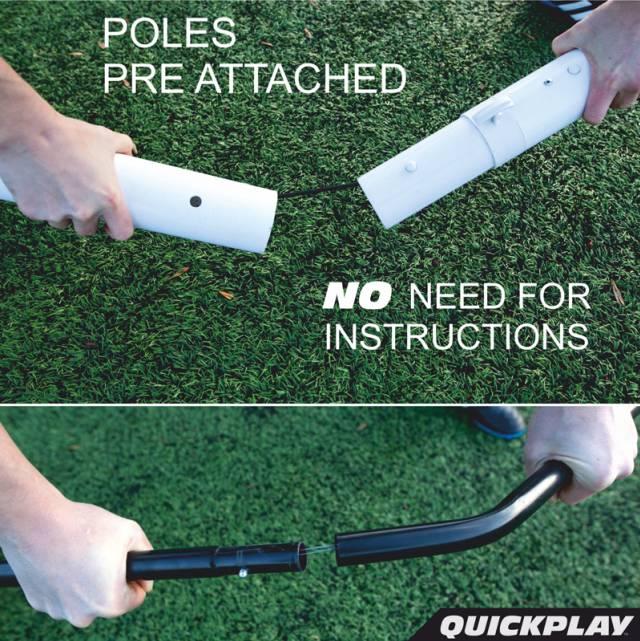 Quickplay Sport Fußballtor Match Fold 2.0, 3 x 2m (tragbares Klapp-Fußballtor)