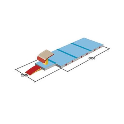 Spieth Gymnastics Sprung - Mattensatz international - 3 Matten à 300 x 200 x 20 cm