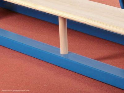Sportgeräte Langer Turnbank 240 x 27,5 x 35 cm, blau-natur