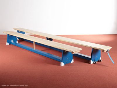 Sportgeräte Langer Turnbank 400 x 27,5 x 35 cm, blau-natur