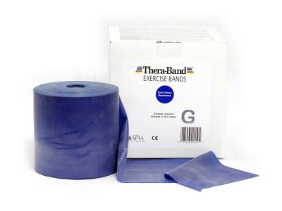 Thera-Band Übungsband blau / extra stark, 45,5 m Rolle