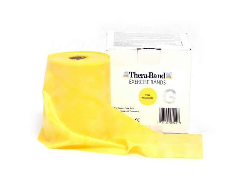 Thera-Band Übungsband gelb / dünn, 45,5 m Rolle