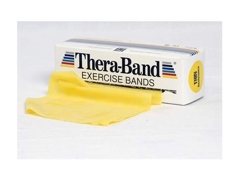Thera-Band Übungsband gelb / dünn, 5,5 m Rolle