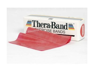 Thera-Band Übungsband rot / mittel stark, 5,5 m Rolle