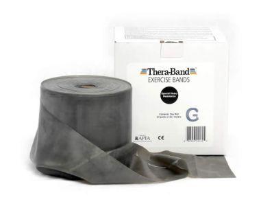 Thera-Band Übungsband schwarz / spezial stark, 45,5 m Rolle