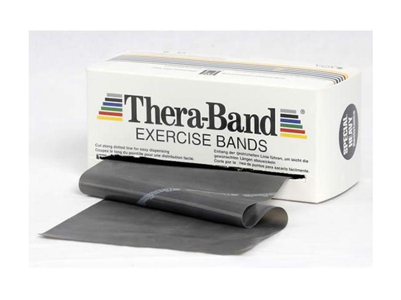 Thera-Band Übungsband schwarz / spezial stark, 5,5 m Rolle