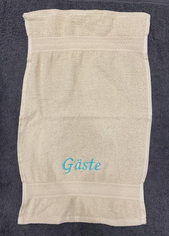 Towels by Jassz Gästehandtuch (bestickbar), 30 x 50 cm, terra