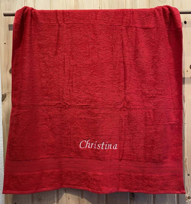 Towels by Jassz Strandhandtuch (bestickbar), 100 x 180 cm, chocolate